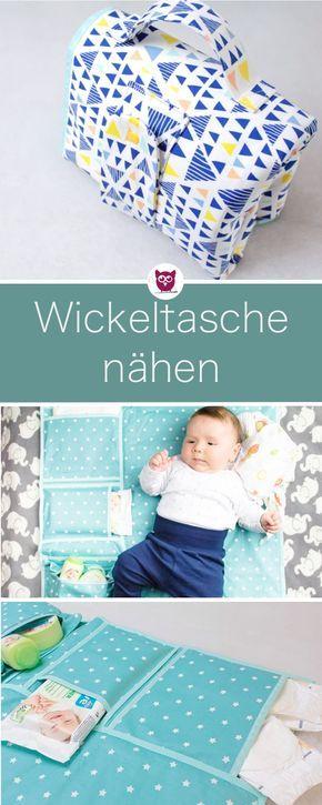 Photo of Nähanleitung mit Video und Textanleitung: Kombinierte Wickeltasche nähen mit W…
