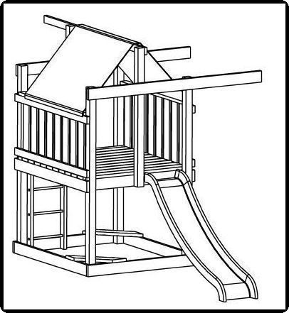 Jungle Gym And Playhouse Fort Swing Set Plans 9. Backyard ...