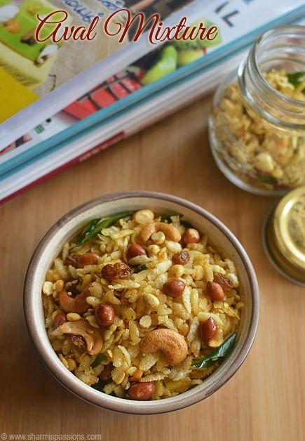 Aval Mixture Recipe Poha Mixture Easy Poha Chivda Sharmis Passions Mixture Recipe Spicy Snacks Diwali Sweets Recipe