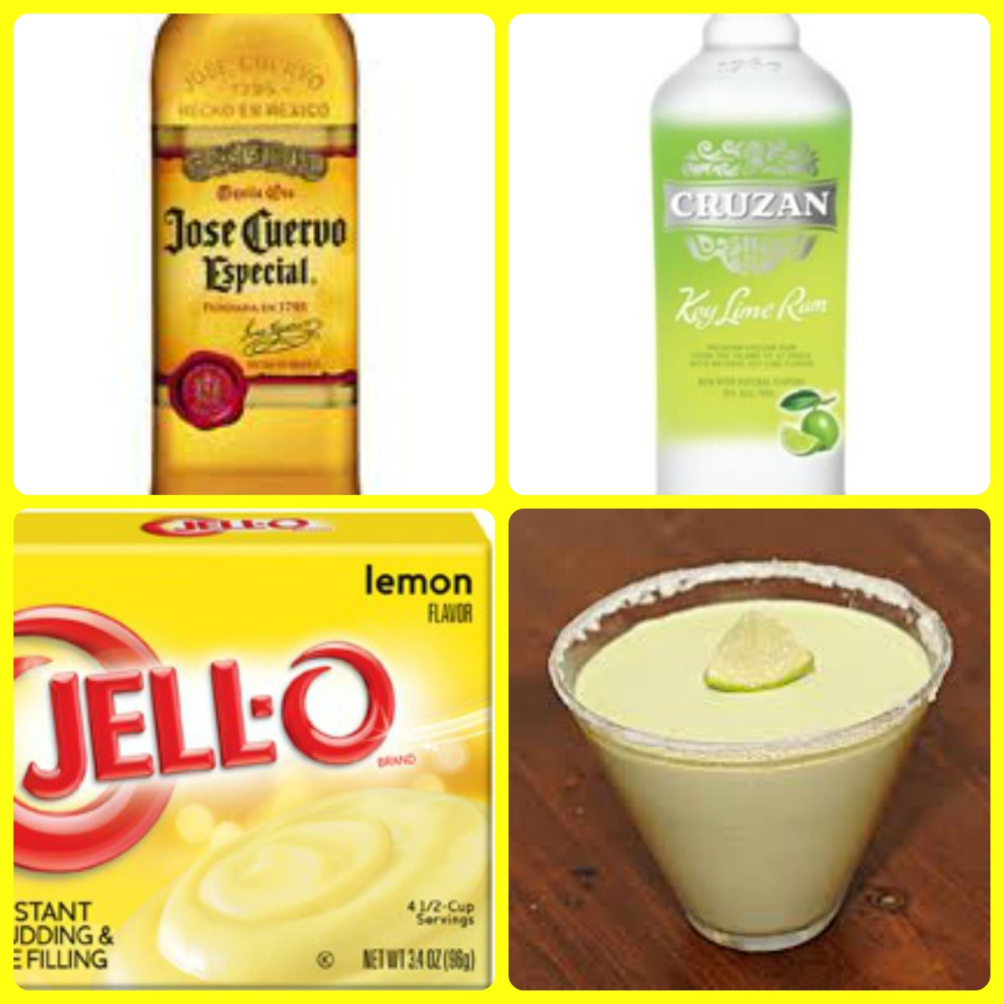Margarita Pudding Shots 1 small Pkg. Lemon instant pudding ¾ Cup ...