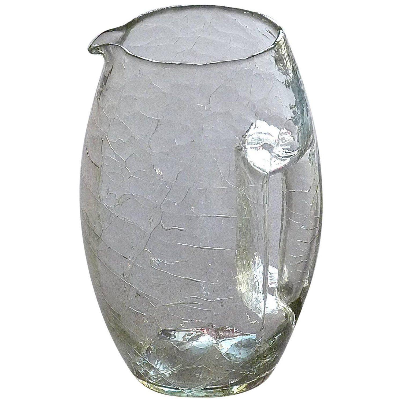 Vienna Secessionist Crystal Glass Vase Pitcher Koloman Moser Loetz Art