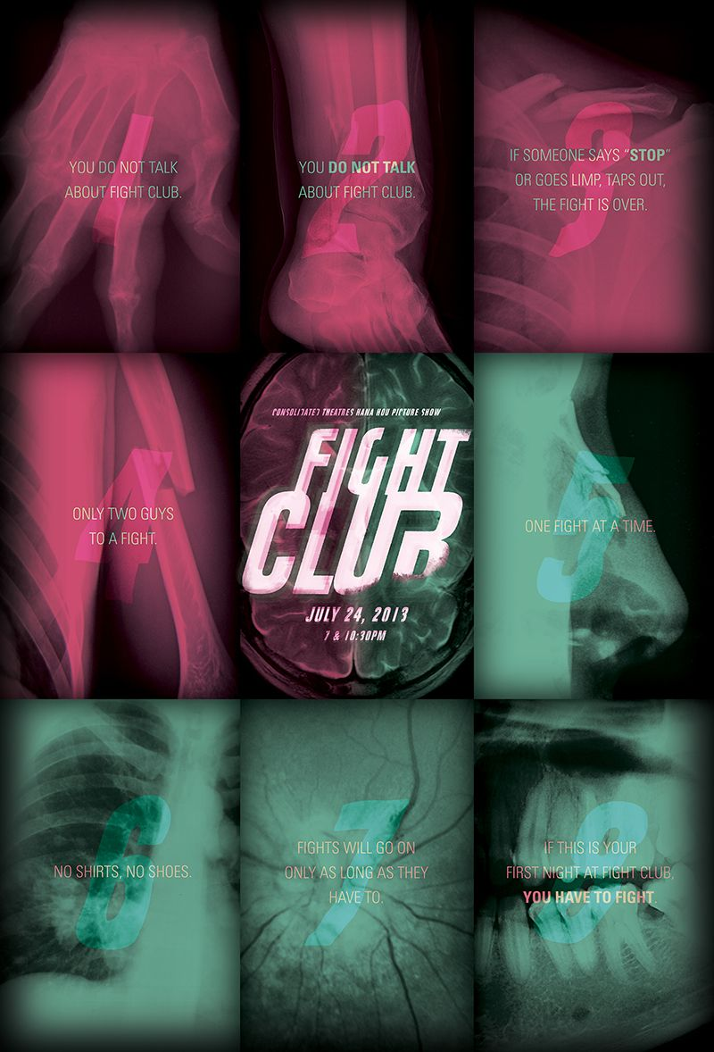 FIGHT CLUB poster for the Hana Hou Picture Show.