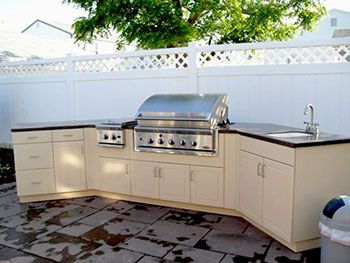 Angled Back Wall With Grill In The Middle Outdoor Kitchen Outdoor Kitchen Appliances Outdoor Kitchen Design