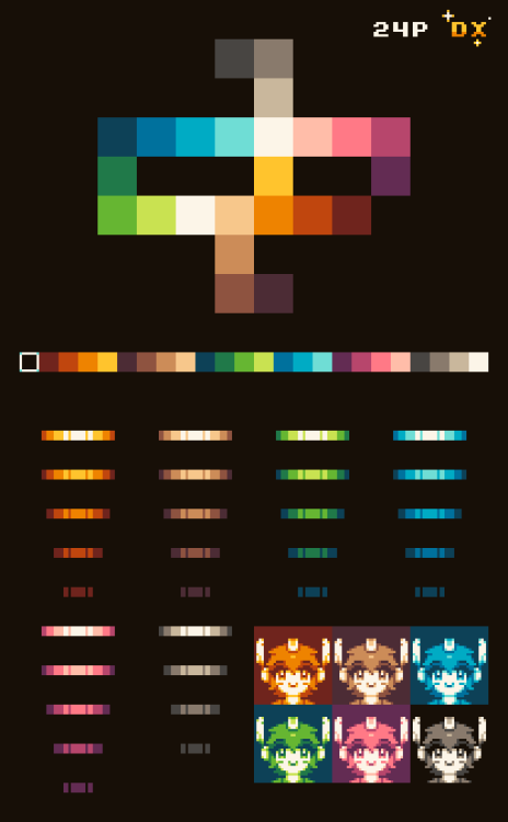 Updated The Browns In My 24 Color Palette They Now Look Tastier