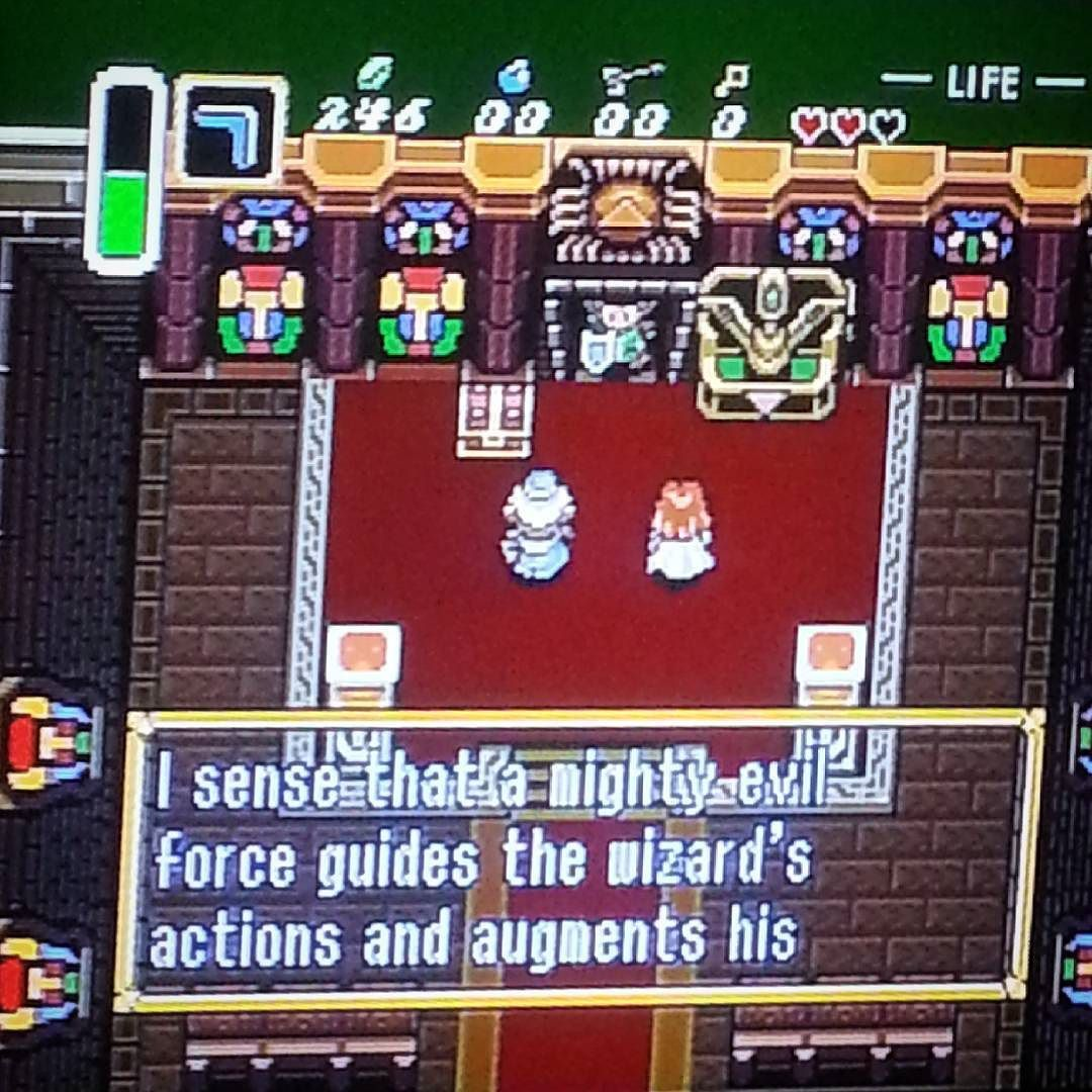 On instagram by gooleegin #retrogaming #microhobbit (o) http://ift.tt/1WD40T8 Zelda  just chill here with this dood.  I shouldn't  be too long. #zelda  #linktothepast #retro  #retrogamers #geek #geeklife