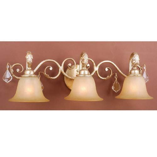 Newcastle Gilded White Gold Three-Light Bath Fixture | Beautiful ...