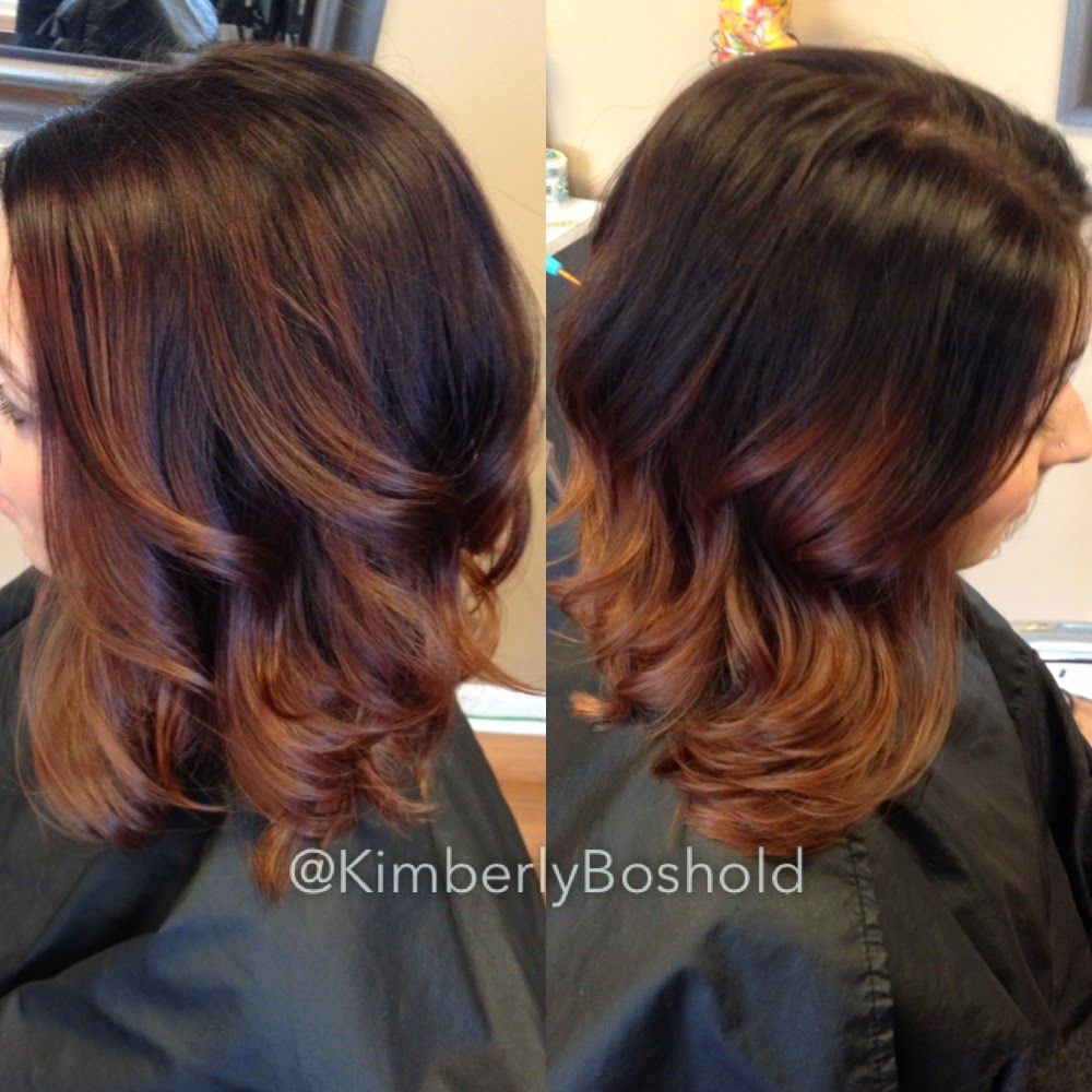 chestnut to copper ombre curly hair google search frisuren pinterest haare balayage. Black Bedroom Furniture Sets. Home Design Ideas