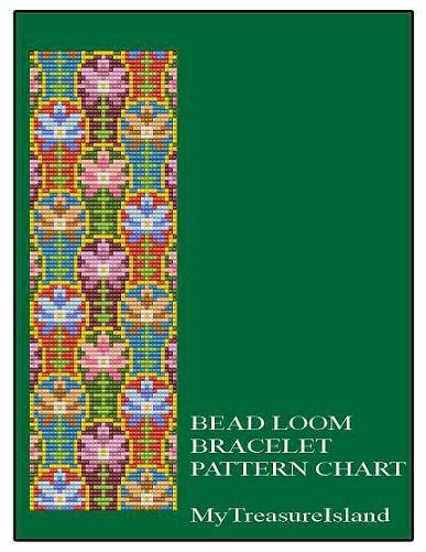 Bead Loom Antique Wallpaper Adaptation Sajou 2 by MyTreasureIsland, $5.50