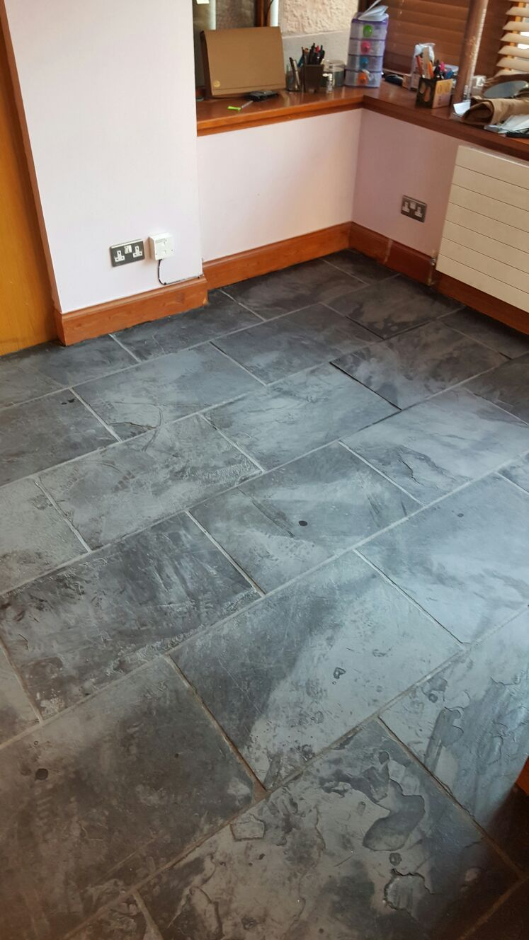 Slate Tiled Floor Stripped, Cleaned and Resealed in ...