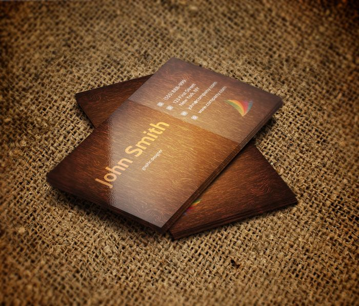 Wooden business card template design freebies pinterest card wooden business card template reheart Choice Image