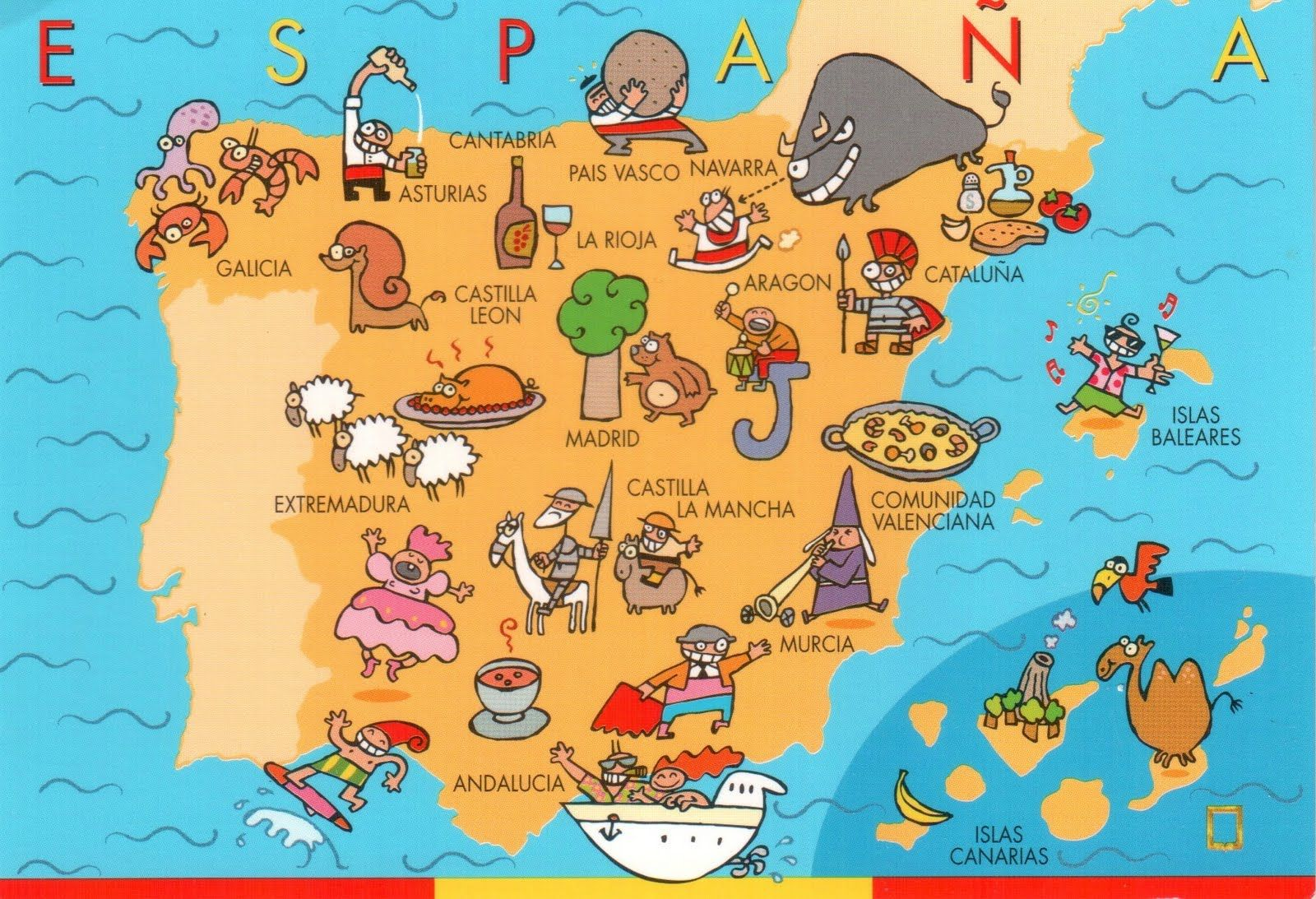 Map Of Spain Landmarks.Map Of Spain With Landmarks International Culture Spain Map Of