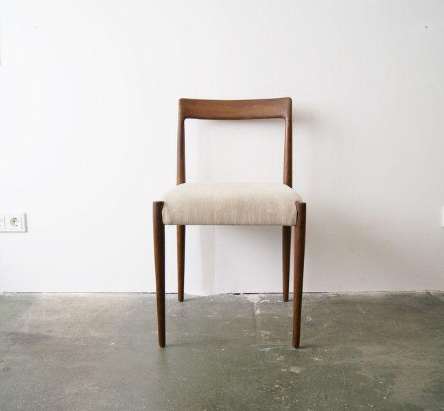 Lübke Stuhl, Stuhl Teak 60er Jahre, Mid
