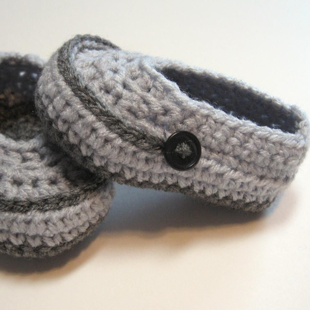 Crochet baby boy booties Infant boy loafers by ThoughtfulStitches ...