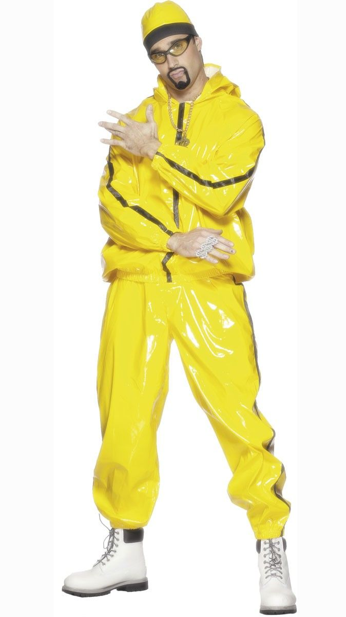 Ali G Is In The House Adults Novelty Yellow Rapper Fancy Dress