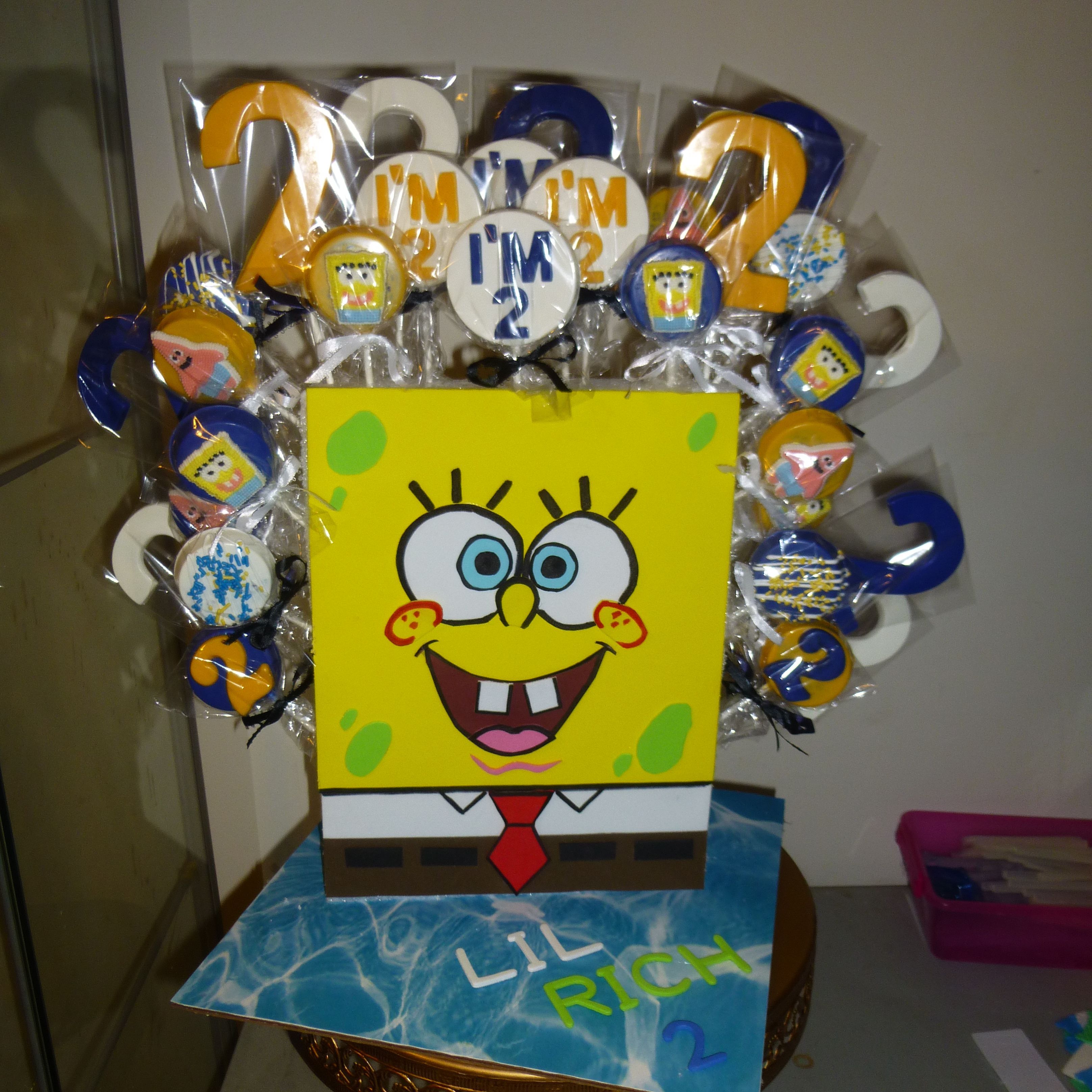 SpongeBob chocolate lollipops and display stand | I MADE THIS ...