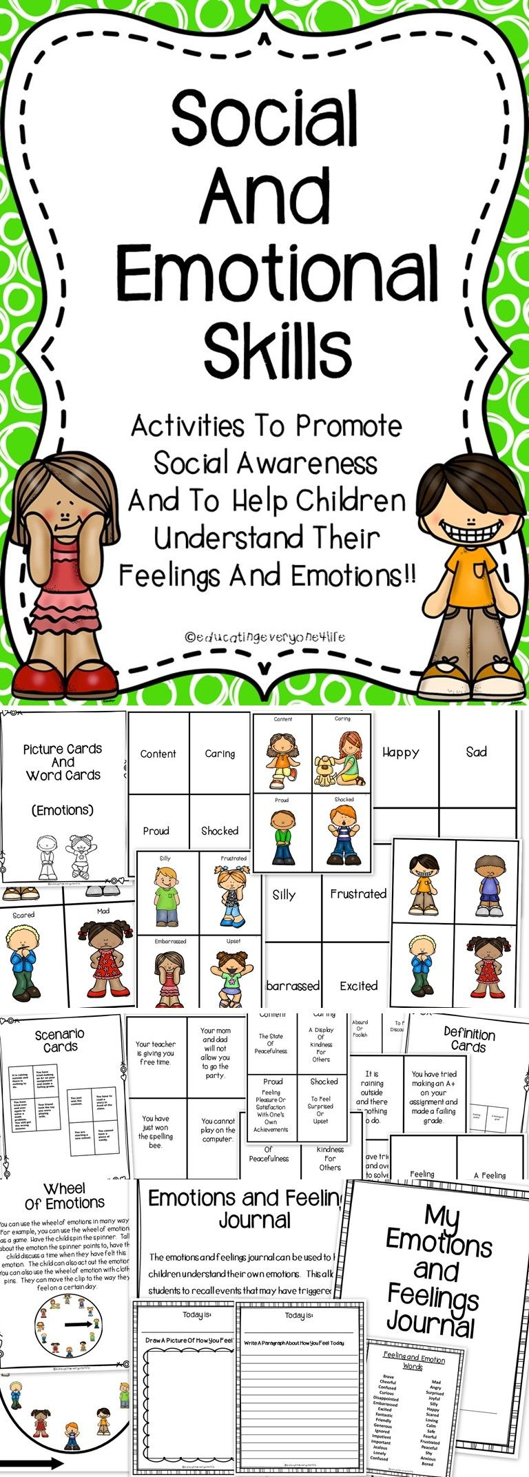 Social Skills and Emotional Skills For The Elementary Classroom – Social Skills Worksheets for Kids