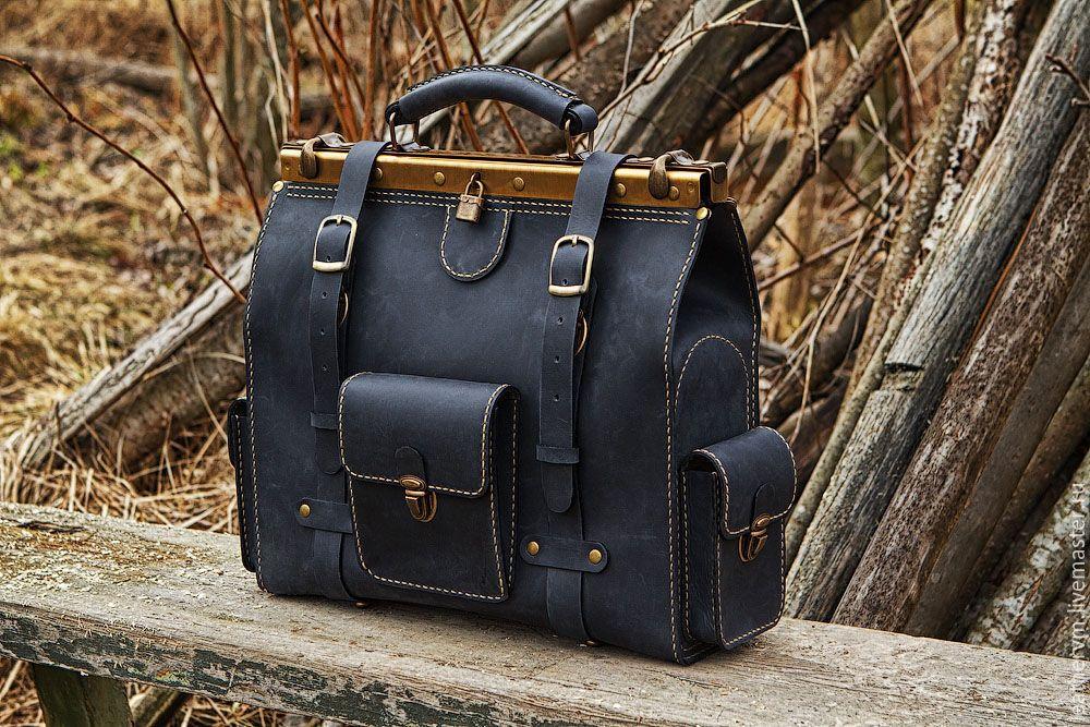 купить кожаный портфель сумку