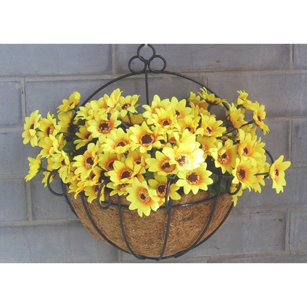 Kingso wall hanging basket planter flower plant pot home