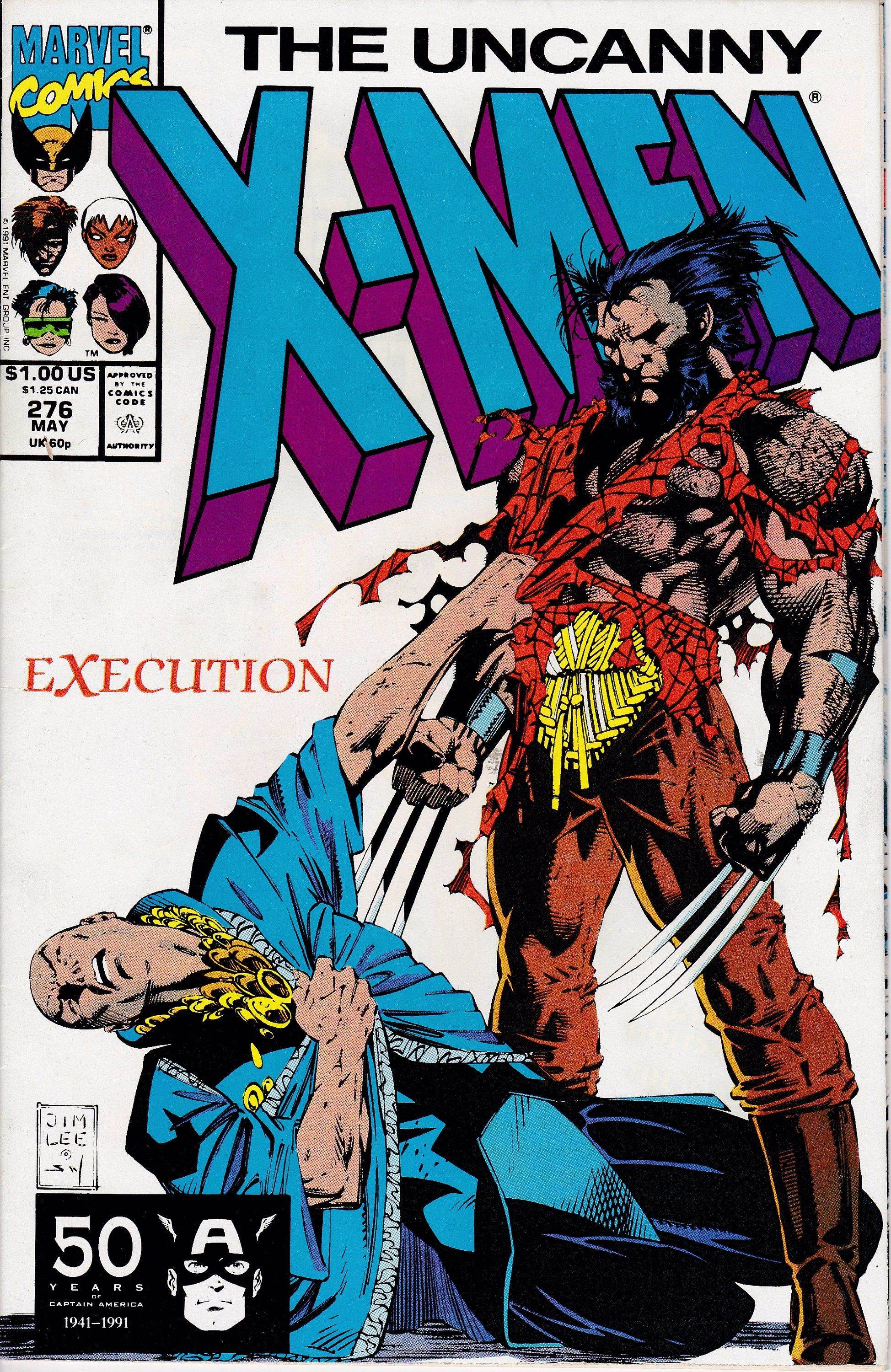 Uncanny X Men 276 1963 1st Series April 1991 Marvel Etsy In 2020 Marvel Comics Covers Comic Books Art Comics