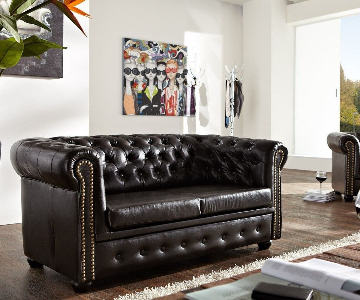 Chesterfield Sofa Günstig delife sofa chesterfield 160x92 cm antikbraun 2 sitzer