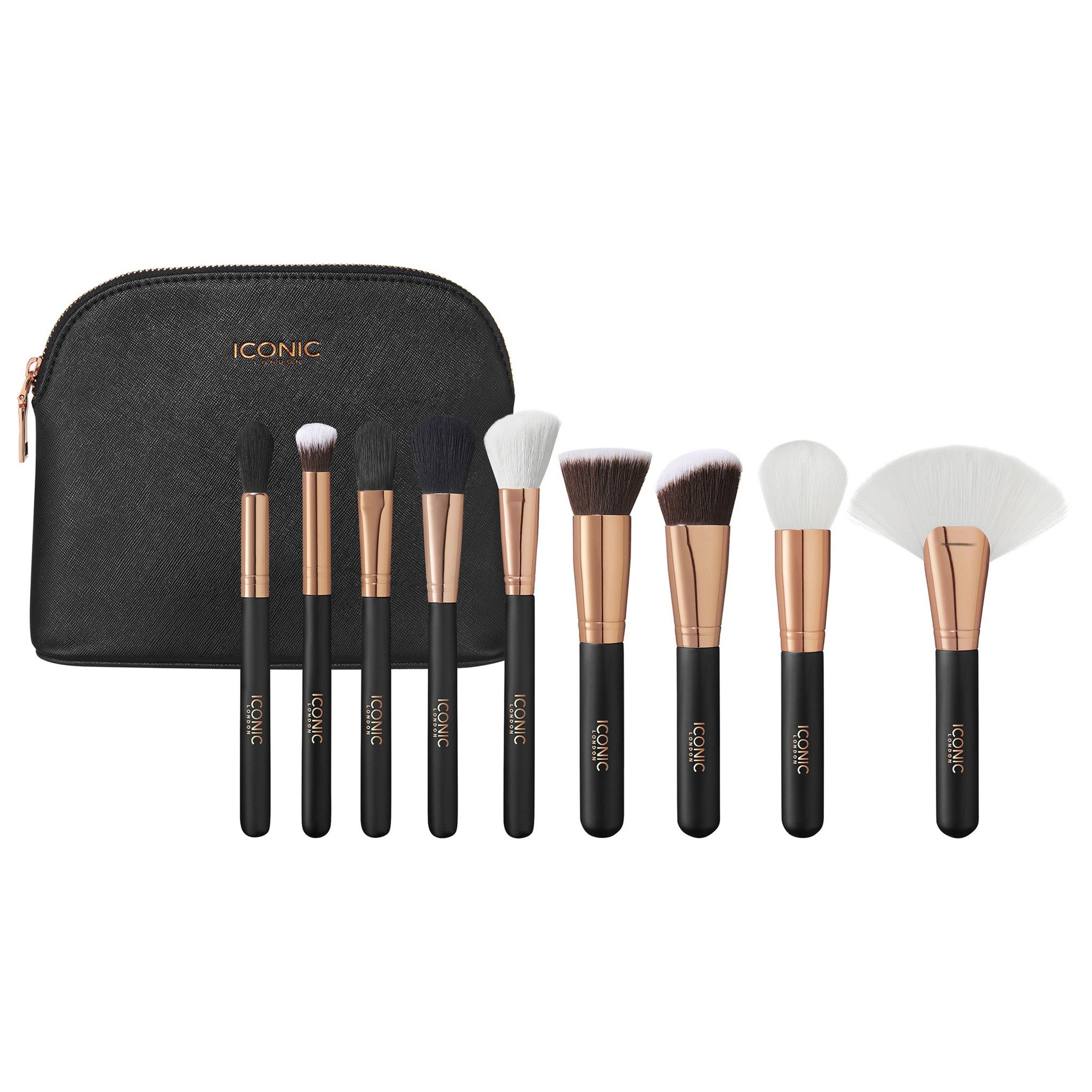 Black and Rose Gold Iconic Complete Face Set Makeup