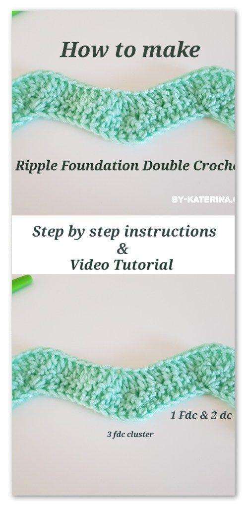 Crochet tips&tricks: Ripple foundation double crochet | Crochet ...