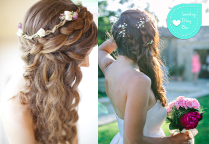 ACCONCIATURE SPOSA FAI DA TE 2015: IDEE PER CAPELLI SCIOLTI CON TRECCIA  By www.SomethingTiffanyBlue.com #wedding #braid #hair #bride