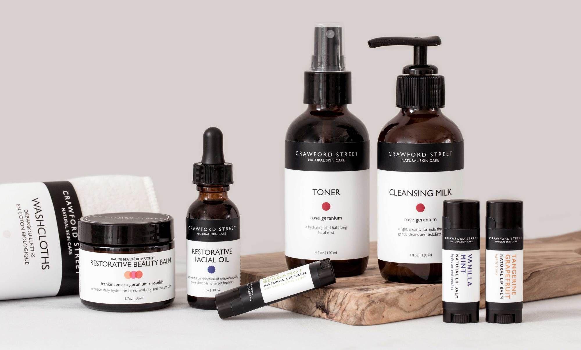Crawford Street Natural Skin Care Produtos veganos, Veganos