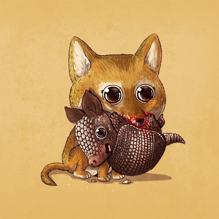 Animado Creepy Animals Animal Drawings Cute Animal Drawings