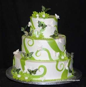 Butterfly green cake