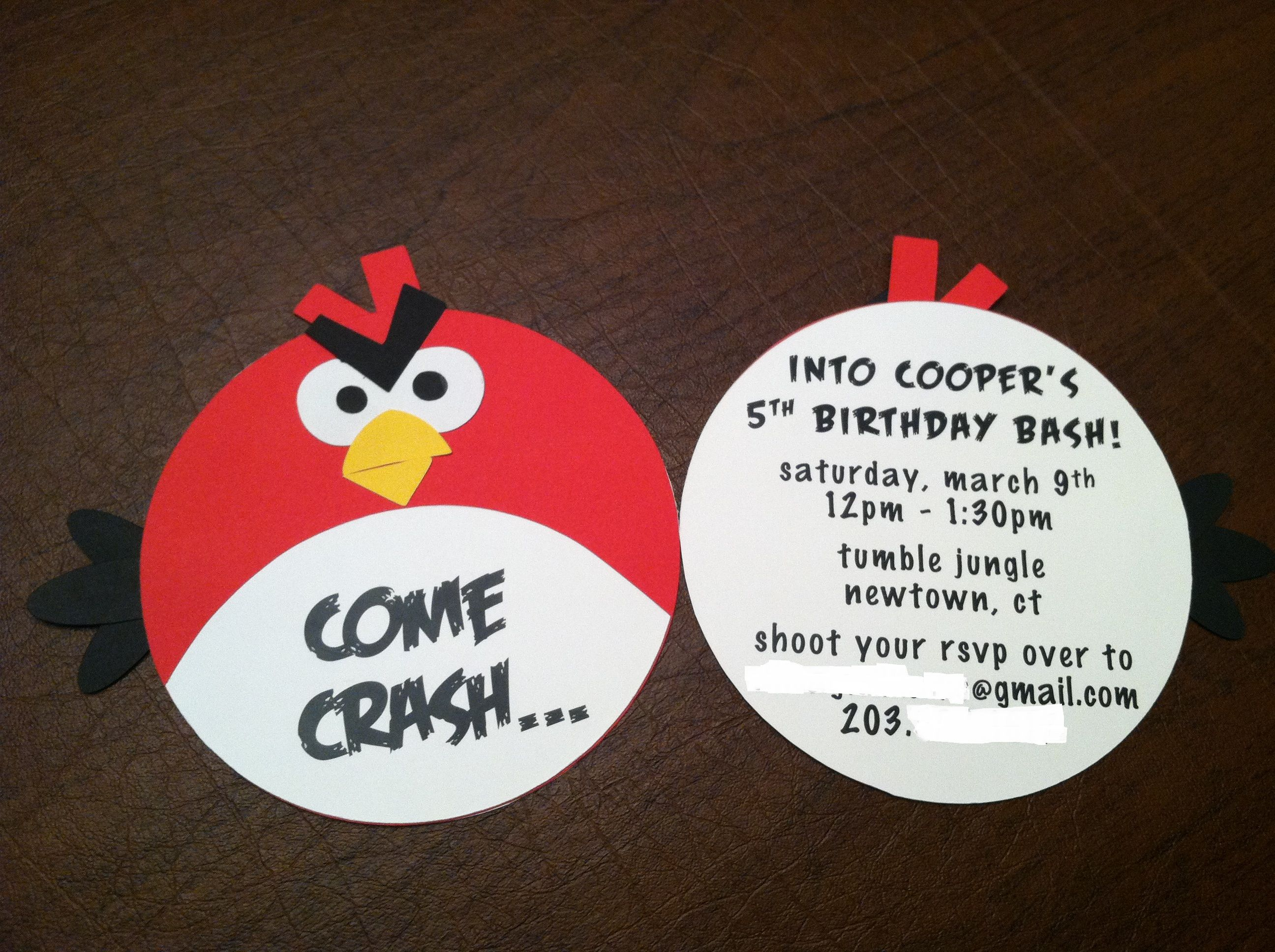 Angry Birds Birthday Invitation | Birthday Invitations & Banners ...