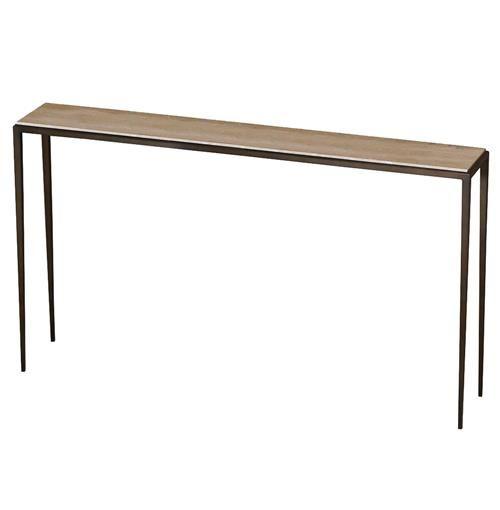 Morell Modern Cream Travertine Console Sofa Table 60 Inch Sofa