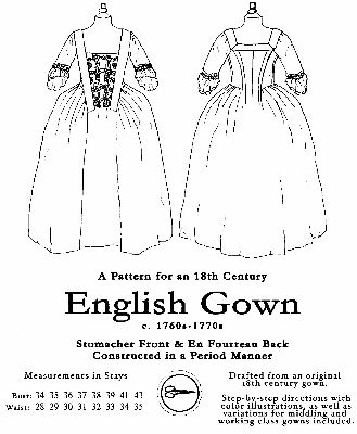 Larkin and Smith nightgown pattern for mid to late 18th century ...