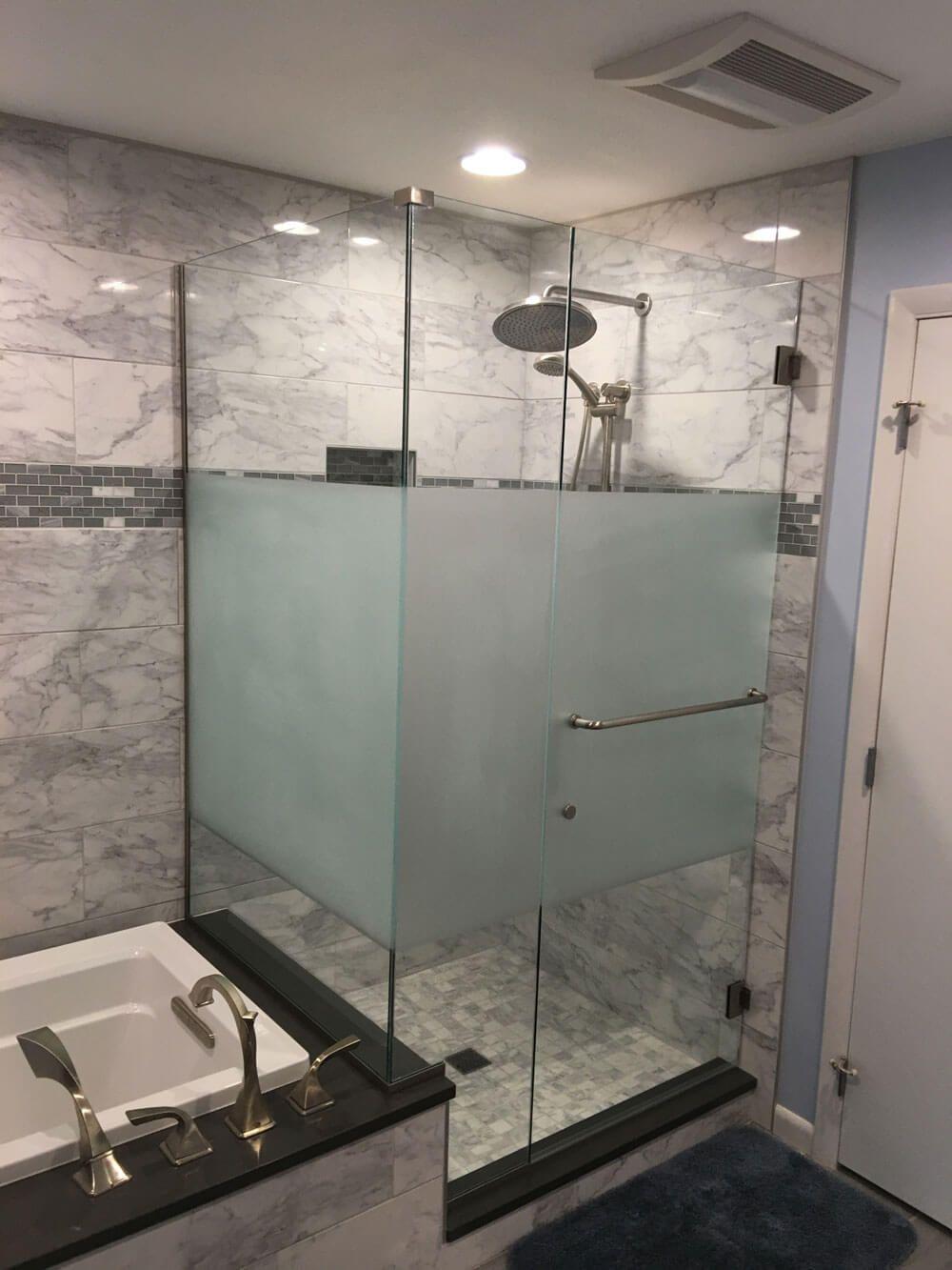 Privacy Glass Shower Doors | Bathrooms | Pinterest | Glass shower ...