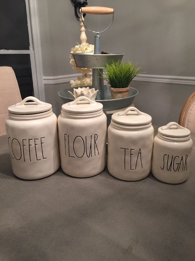 Rae Dunn Canister Set Coffee Flour Tea Sugar Rae Dunn For