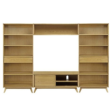 Buy House by John Lewis Stride Media Display, Wide Bookcases Online ...