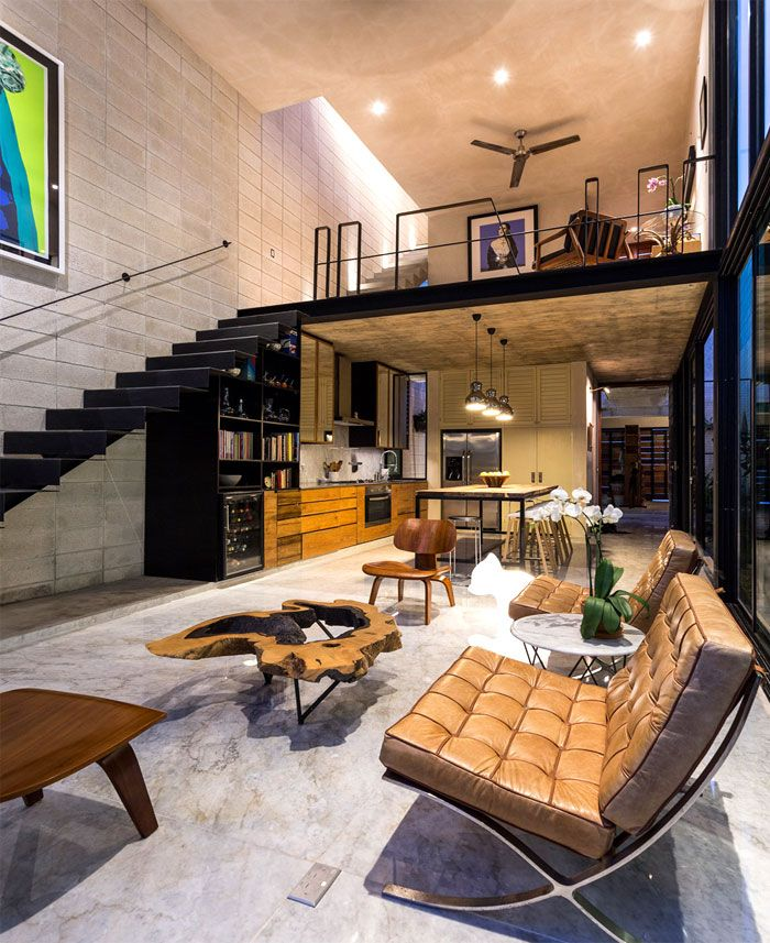 Modern Mexican House : modern, mexican, house, Modern, Mexican, House, Located, Yucatan, Design,, Interiors,