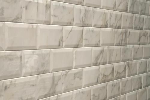 These Are Beautiful For The Kitchen Beveled Marble Subway Tile