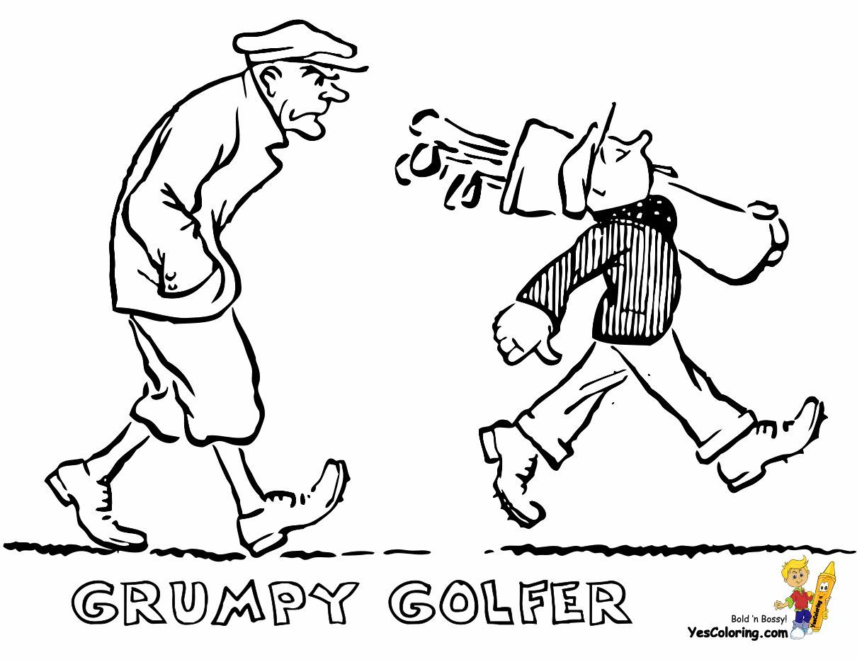 Gallant Golf Coloring Pages Sports Coloring Pages Coloring
