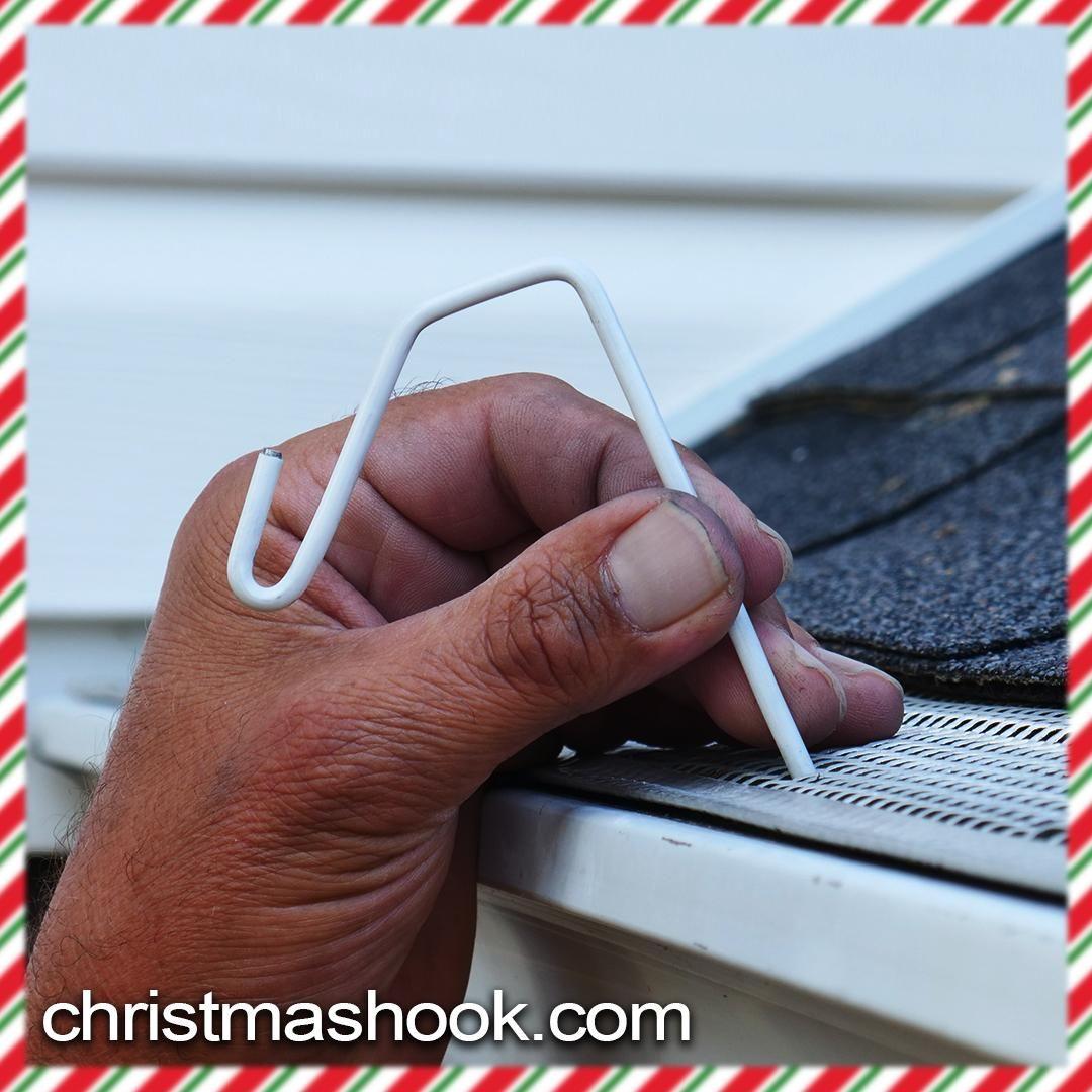 Christmas Hook Is A Christmas Light Hanger Designed To Fit Gutters Wi Christmas Light Hanger Hanging Christmas Lights Christmas Lights