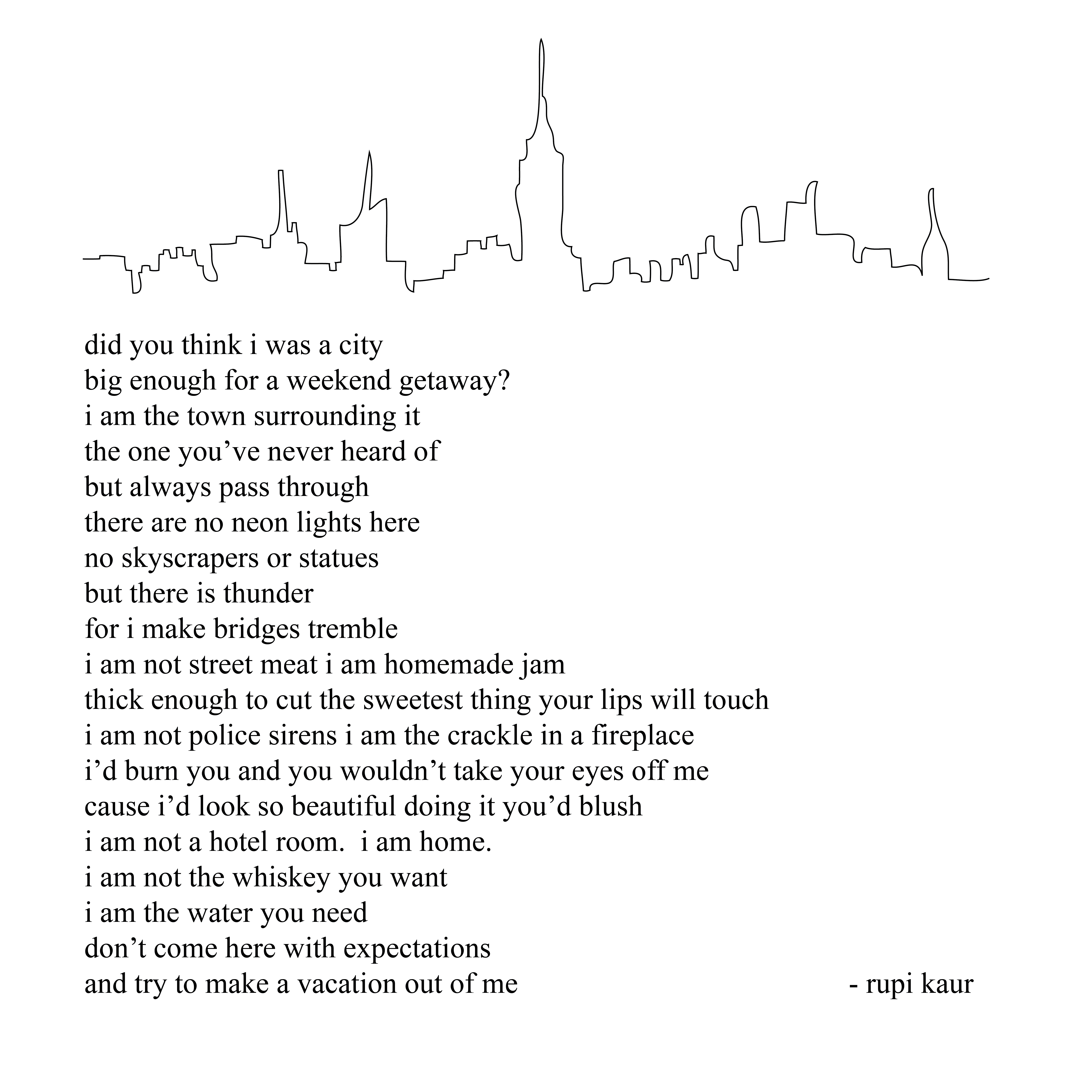 Rubi Kaur City Thoughts Quotes Rumi Quotes Words