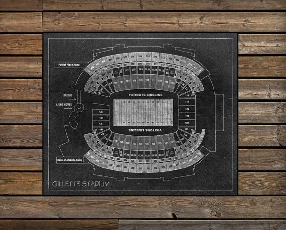 NFL Gillette Stadium Seating Chart Blueprint on New by ClavinInc