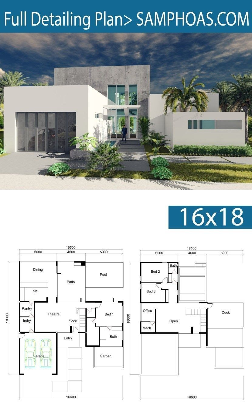 20 Big Modern House Floor Plans Plataran Best The Plan Denah Lantai Rumah Rumah Impian