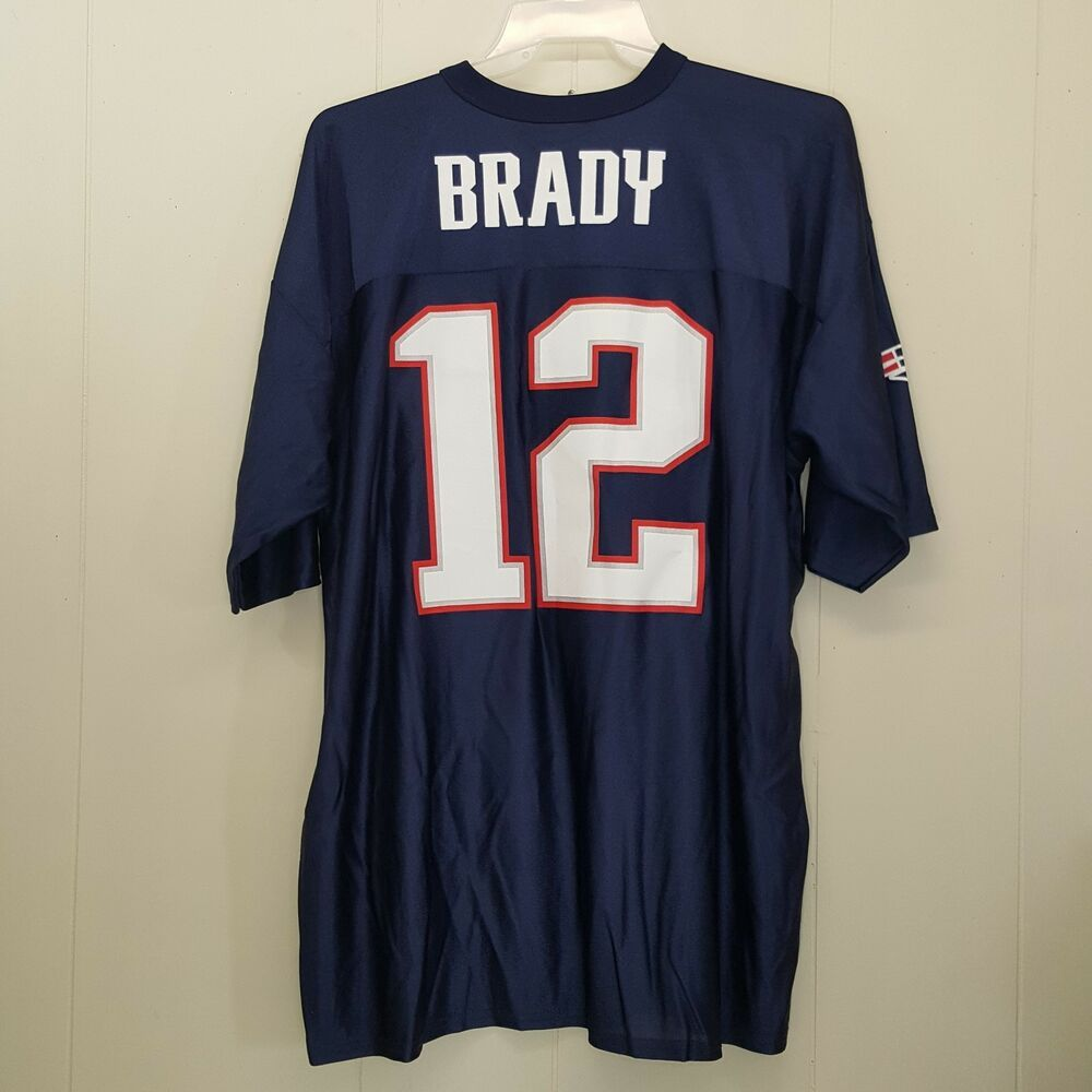 NFL Jersey 2XL Tom Brady 12 New England Patriots Team Apparel ...