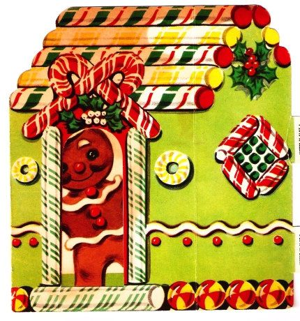 Gingerbread Boy Peppermint Cottage