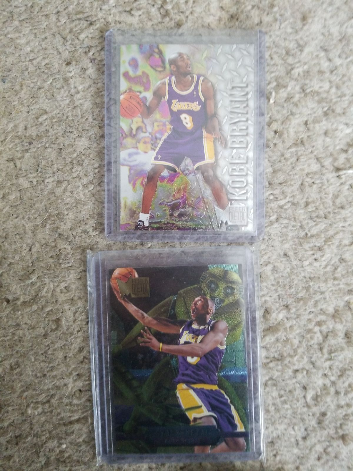 2 cards of an all time nba great nba sports baseball