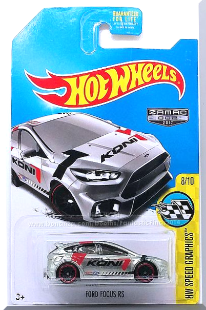 Hot Wheels Ford Focus Rs Hw Speed Graphics 8 10 Zamac 002 2017 Hot Wheels Ford Focus Ford Focus Rs