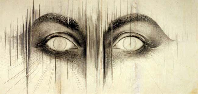 "Jay Defeo ""the Eyes"" 1958. Art Experience:NYC http://www.artexperiencenyc.com/social_login"