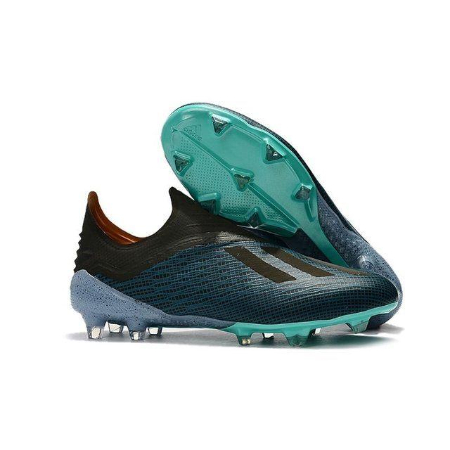 563af6b8e3 Chuteira Adidas X 18+ FG Azul Fluorescente