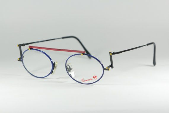 b9280df9592ef0 Vintage Mondrian inspired eyeglasses frame made in italy by Casanova (2  color variations)